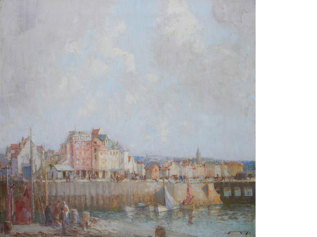 William Lee Hankey, RWS, RI, ROI, RE (British, 1869-1952) Dieppe harbour