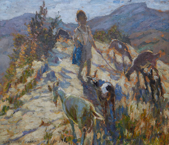 Dorothea Sharp (British, 1874-1955) The young goat herder