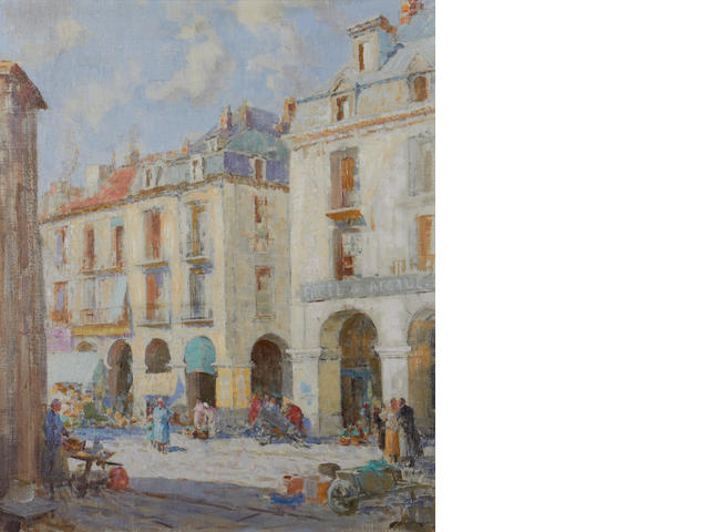 William Lee Hankey, RWS, RI, ROI, RE (British, 1869-1952) Market day, Dieppe