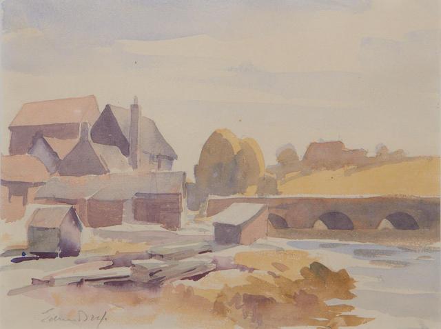 Edward Seago R.W.S. (British, 1910-1974) Devon landscape