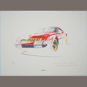 A limited edition Ferrari Art Club print after H. Yoshida,