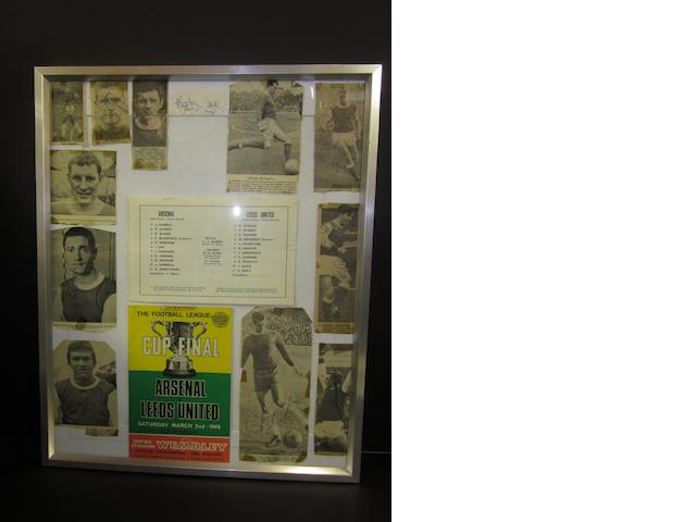 1968 Arsenal team League Cup final hand signed montage