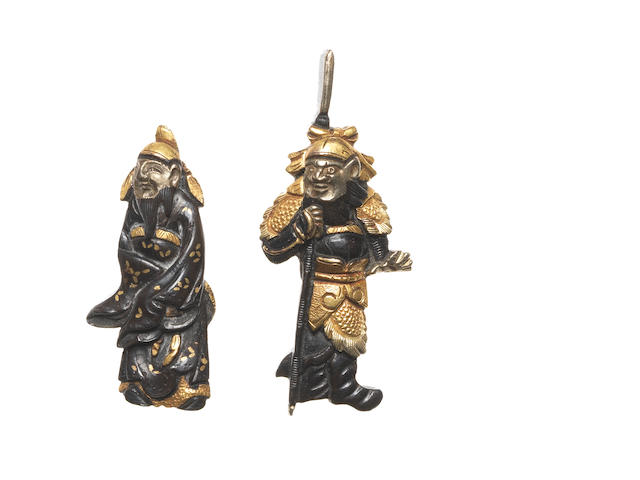 Two pairs of menuki 18th and 19th century