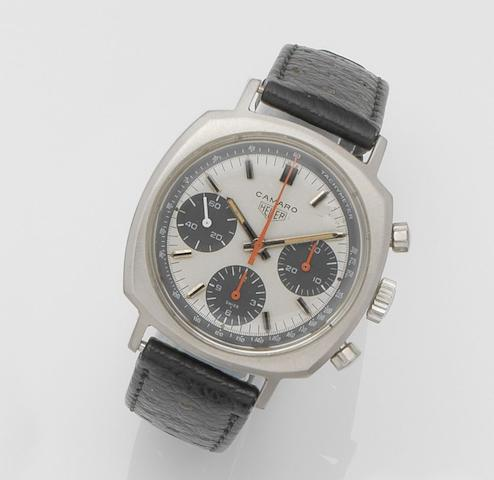 Heuer. A stainless steel manual wind chronograph wristwatch Camaro, Ref:73643 T, Case No.192600, Circa 1968