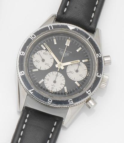 Heuer. A stainless steel manual wind chronograph wristwatch Autavia, Ref:2446 H, Case No.89595, Circa 1967