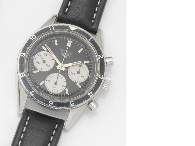 Heuer. A stainless steel manual wind chronograph wristwatch Autavia, Ref:2446 H, Case No.89595, Circa 1967