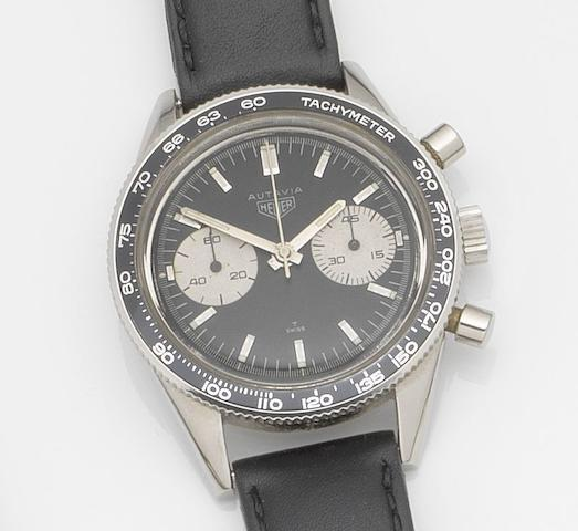 Heuer. A stainless steel manual wind chronograph wristwatch Autavia, Ref:3646, Circa 1965