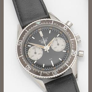 Heuer. A stainless steel manual wind chronograph wristwatch Autavia, Ref:3646 M, Case No.52430, Circa 1963