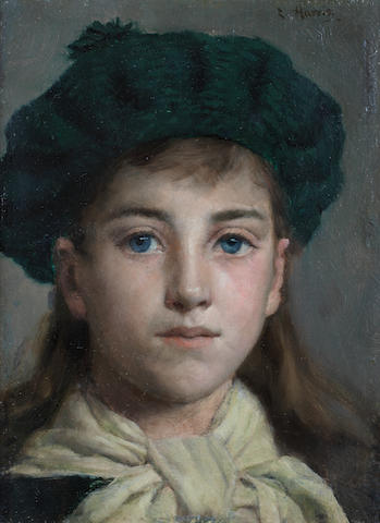 Edwin Harris, RBSA (British, 1855-1906) Portrait of a girl