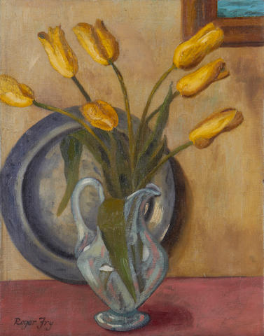 Roger Fry (British, 1866-1934) Tulips in a vase