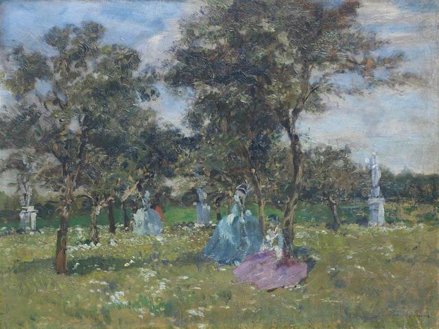 Emma Ciardi (Italian, 1879-1933) Ladies resting in the shade