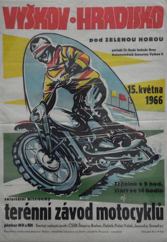 A 1966 Czechoslovakian motocross race poster,