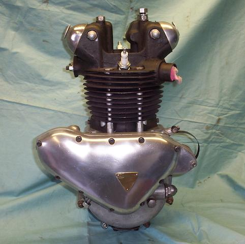 A 1946 Triumph 3T 350cc engine,