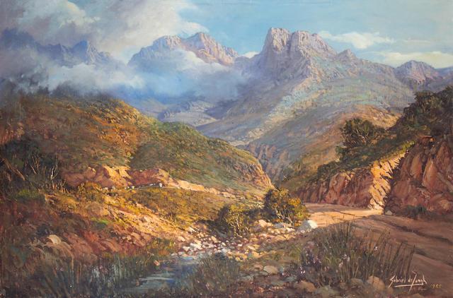 Gabriel Cornelis de Jongh (South African, 1913-2004) Du Toit's Kloof