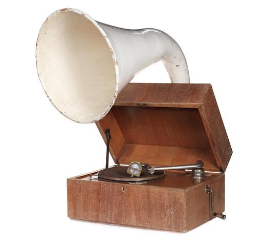 An EMG Expert Junior gramophone, circa 1930,