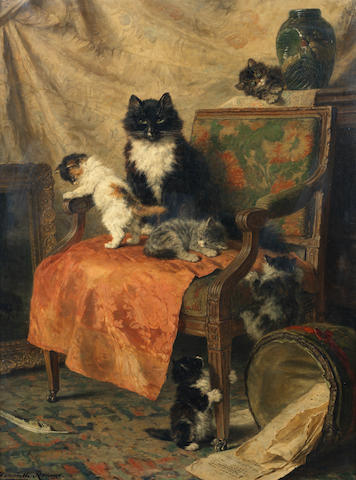 Henriette Ronner-Knip (Dutch, 1821-1909) Kittens at play