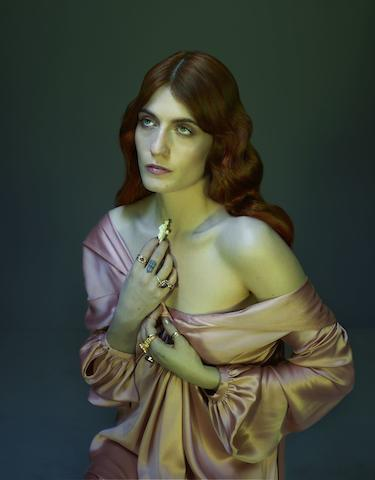 Nadav Kander (Israeli, born 1961) Florence Welch I, 2011 Paper 76 x 61.5cm (29 15/16 x 24 3/16in), image 66 x 51.5cm (26 x 20 1/4in).