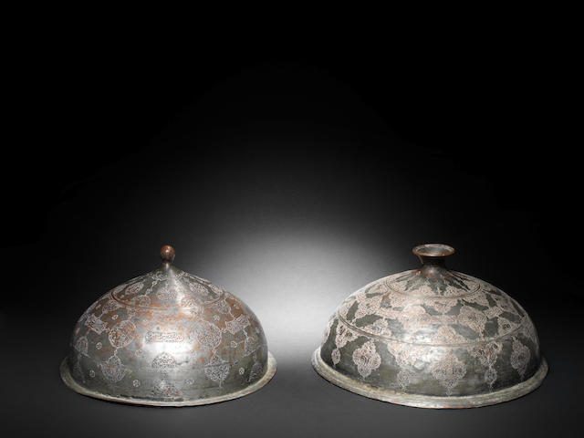Two Safavid tinned-copper Lids Persia, 17th Century(2)