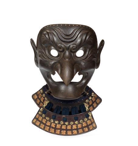 A large tengu somen (mask) By Sekimoto Genshiro Munehide, mid Edo Period, 18th/19th century