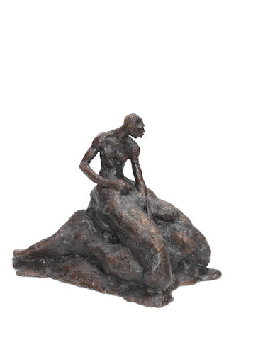 Kehinde 'Kenny' Adewuyi (Nigerian, born 1959) 'Dignity of Labour' 24cm (9 7/16in) high.