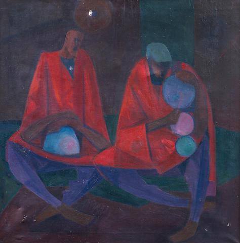 Yusuf Adebayo Cameron Grillo (Nigerian, born 1934) Sitting drummers