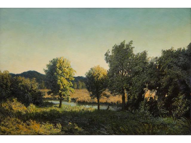 Algernon Cecil Newton (British, 1880-1968) Evening on the River