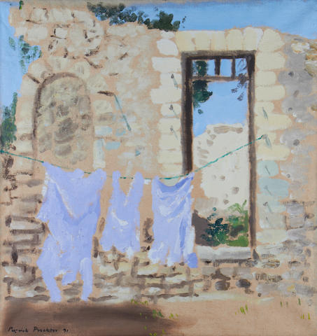 Patrick Procktor (British, 1936-2003) Ruins with washing