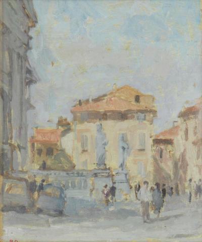 Bernard Dunstan (British, born 1920) Outside the Duomo
