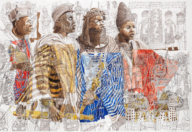 Julien Sinzogan (Beninese, born 1957) 'Yoruba Kings II'