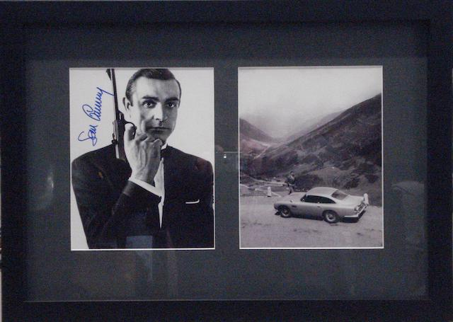 A signed Sean Connery 'James Bond' and a 'Goldfinger' Aston Martin DB5 photograph,