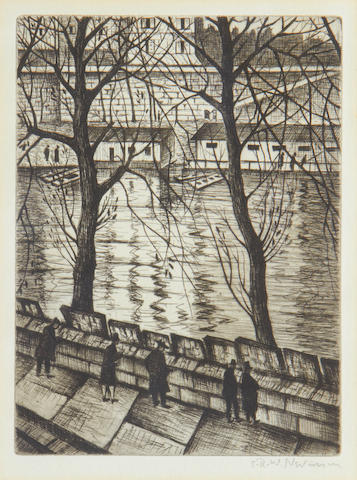 Christopher Richard Wynne Nevinson A.R.A. (British, 1889-1946) Les Bibliophiles  Drypoint, 1931, on laid, signed in pencil, from the edition of 75, 212 x 160mm (8 3/8 x 6 1/4in)(PL)