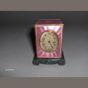 A Miniature carriage clock by The Geneva Clock Company