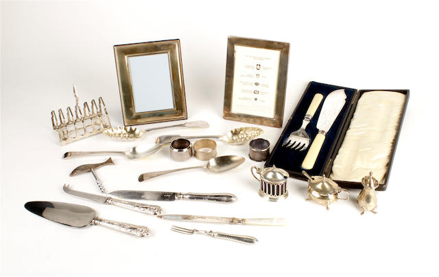 A collection of silver and electroplated items  (qty)