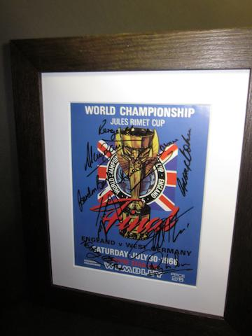 1966 World Cup hand signed programme print