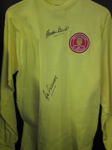World Cup winners anniversary goalkeepers shirt hand signed by Banks/Bonetti