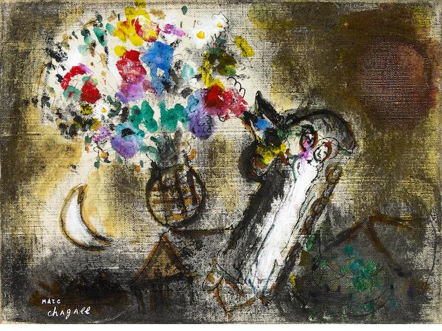 Marc Chagall Les Maries Dans L'Horloge 9 ½ x 13 inches