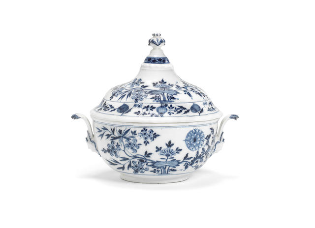 A Meissen oval tureen and cover, circa 1740
