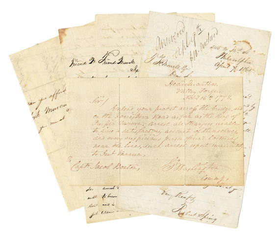 SPRING (ROBERT) Collection of autograph letters by, and forgeries attributed to, Robert Spring, including four autograph letters signed, 1862
