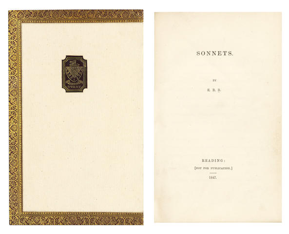 BROWNING (ELIZABETH BARRETT) Sonnets [from the Portuguese], [c.1890]