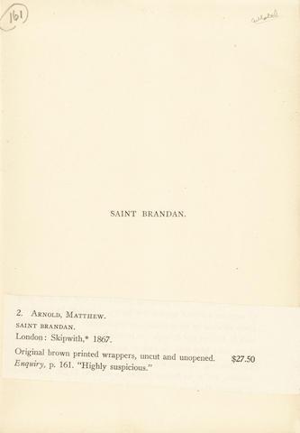 ARNOLD (MATTHEW) Saint Brandan, [c.1890]
