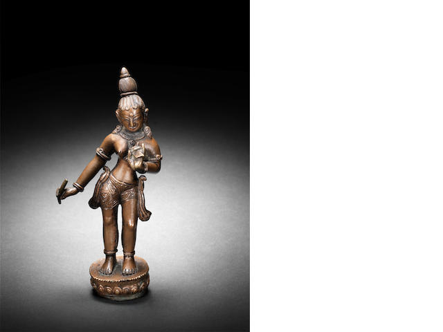 An Indian Bronze female figure 19th Century