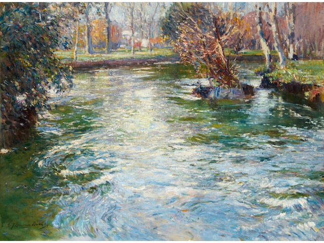 Samuel John Lamorna Birch, R.A., R.W.S., R.W.A. (British, 1869-1955) The river's course - near Montreuil, France
