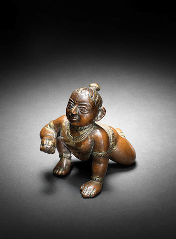 A small bronze Figurine of Krishna Bengal or Orissa, 17th Century