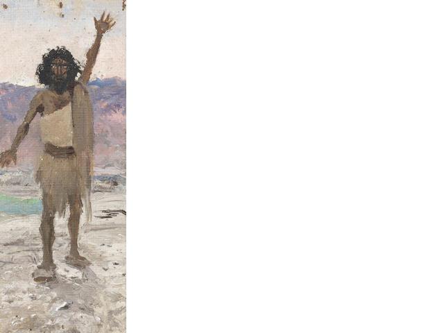 Vasilii Dmitrievich Polenov (Russian, 1844-1927) 'John the Baptist'