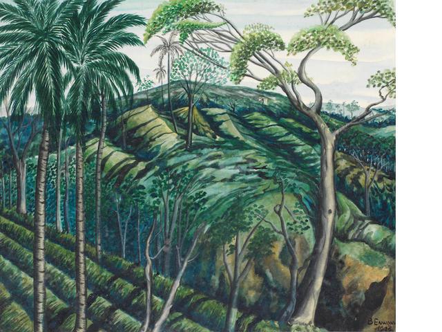 Ben (Benedict Chukwukadibia) Enwonwu, M.B.E (Nigerian, 1917-1994) Jungle landscape