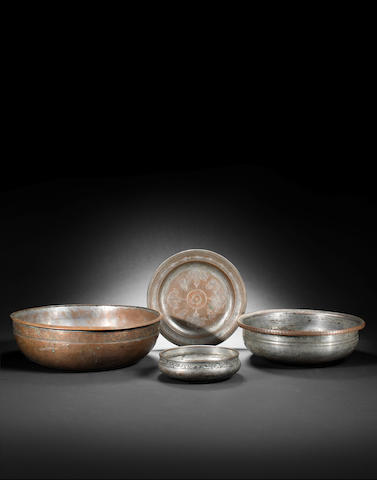 Four tinned-copper Vessels Persia, 18th/ 19th Century(4)