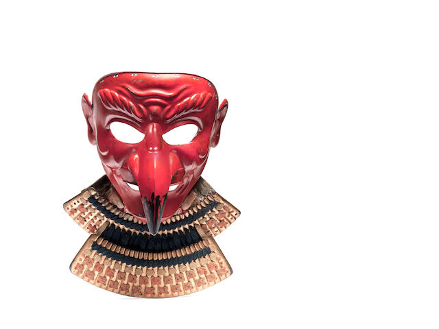 A tengu somen (mask) By Geishu Myochin Kiyoyoshi, mid Edo Period, 18th/19th century