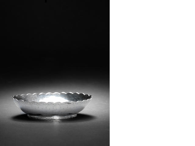 A small engraved Ottoman silver Bowl Turkey, 19th Century