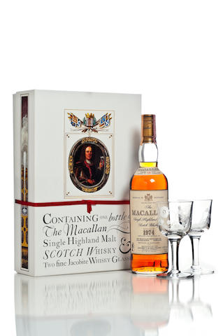 The Macallan, Jacobite Glasses- 1974- 18 year old
