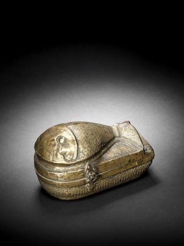 A Mughal monk fish box late 18th c
